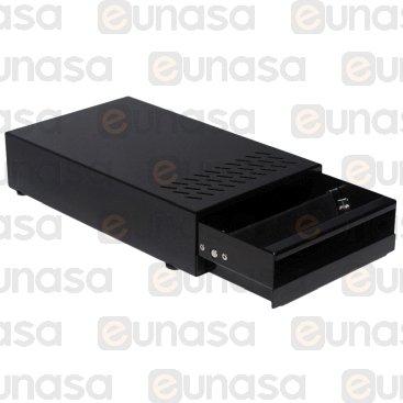 Black St Steel Drawer Knock Box 215x360x85mm