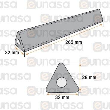 Barra Picamarro Triangular Gcontrol 265mm