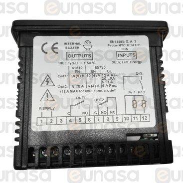 Termostato Digital 2RELÉS 100/230V Ac Ts F200