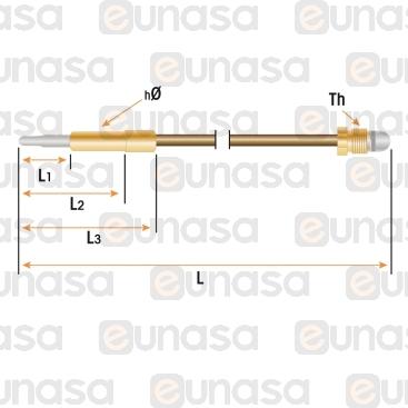 Termopar Cabeza Lisa M9x1 L=320mm