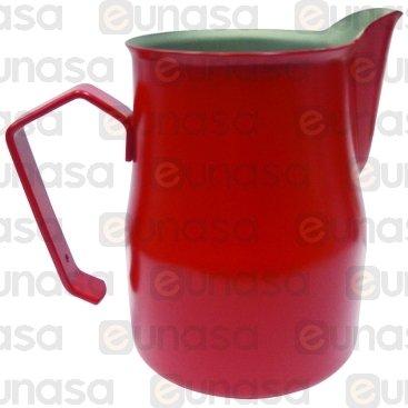 Jarra Leche Profesional Roja Inox 0.35L