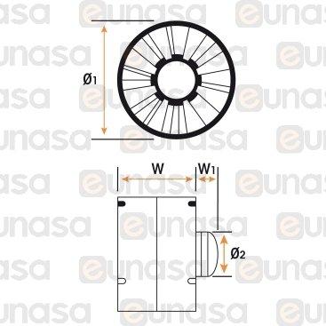 Ventola Tubolare 230V 50Hz 100m³ / H