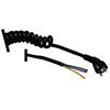 Clavija Cable Rizado 3x2.5mm 2 A 6 Metros