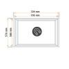 Burlete 720x570mm Pvc Blanco RCX200
