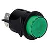 Interruptor Verde  Ø25mm 16A 230V Bipolar
