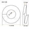 Arandela De Presión M6 DIN-127 Inox