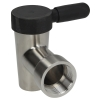 "St Steel Thread 2""F Drain Tap"